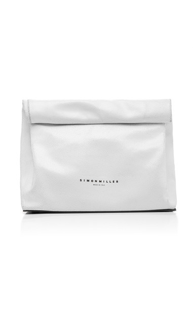 Simon Miller Lunchbag 30cm Leather Bag in white