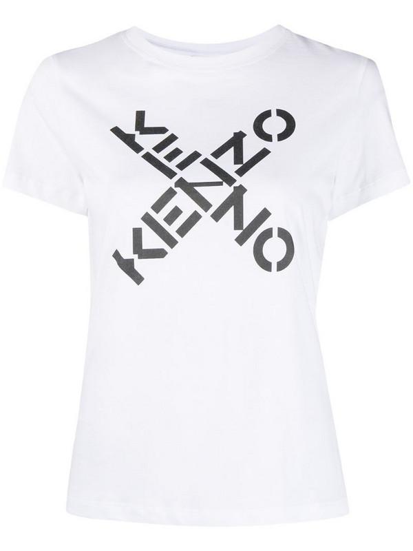 Kenzo logo-print T-shirt in white