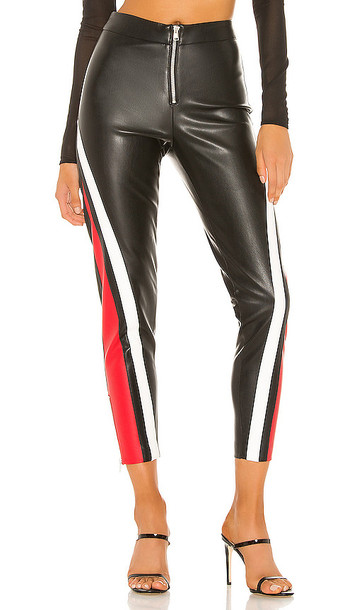 superdown Janica Faux Leather Pant in Black