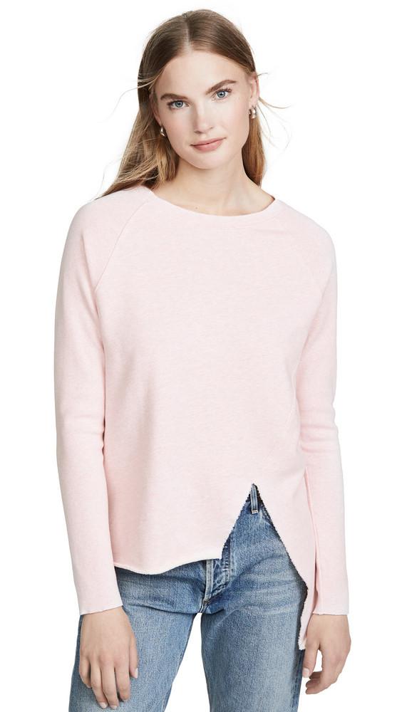 Frank & Eileen Asymmetric Sweatshirt in rose