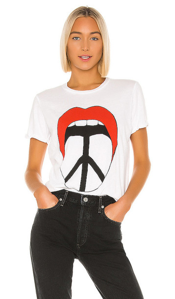Lauren Moshi Edda Peace Tongue Tee in White