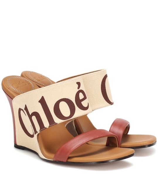 wedges leather wedges leather beige shoes
