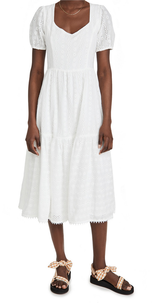 Lost + Wander Lost + Wander Middle of Nowhere Midi Dress in white