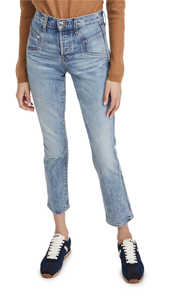Veronica Beard Jean Ryleigh Slim Straight Jeans in blue