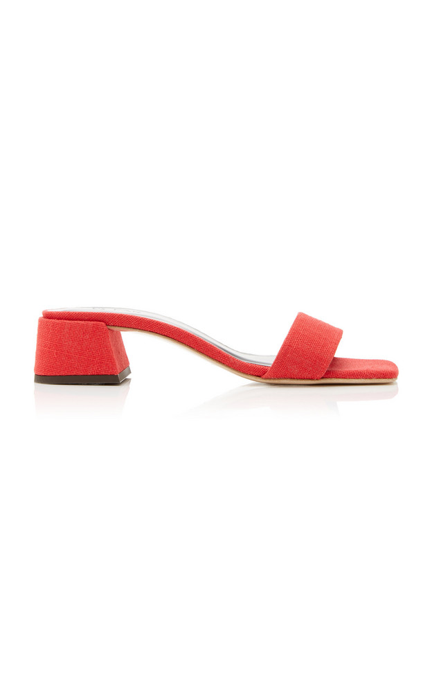 by FAR Courtney Linen Sandals in red
