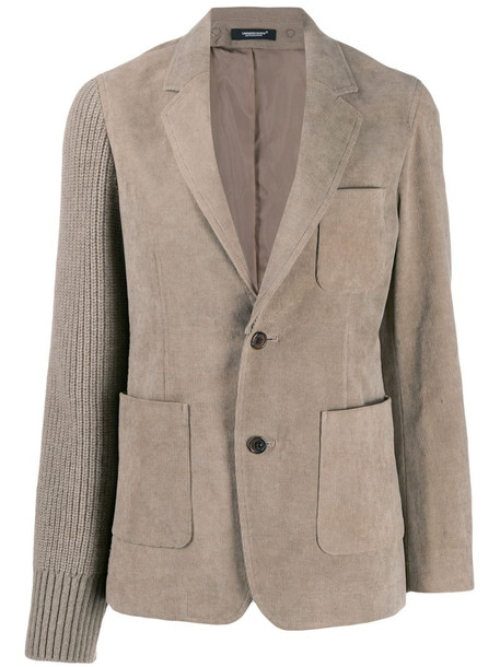 Undercover corduroy and knitted blazer in neutrals