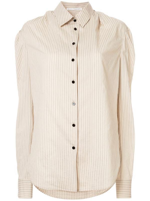 Olivier Theyskens striped shirt in neutrals