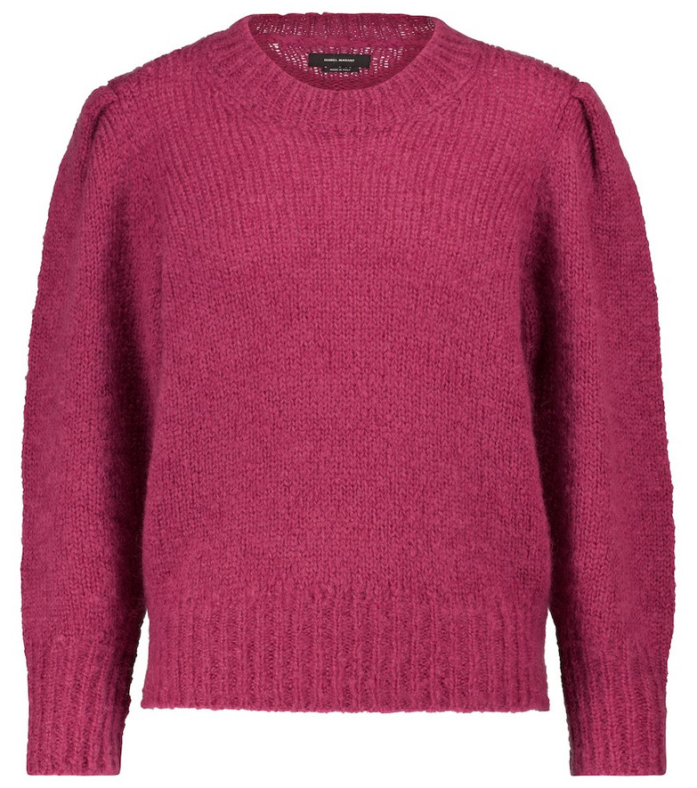 Isabel Marant Emma mohair and wool-blend sweater in pink