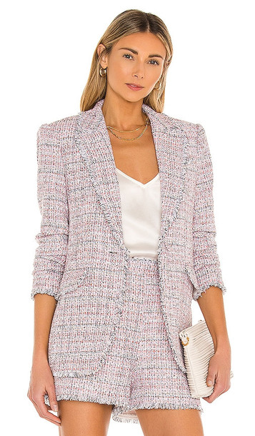 Cinq a Sept Boucle Khloe Blazer in Pink
