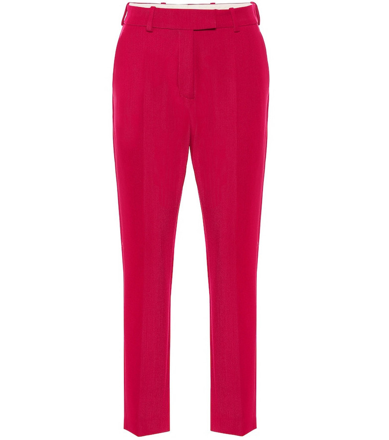 Racil Oscar mid-rise straight wool pants in pink