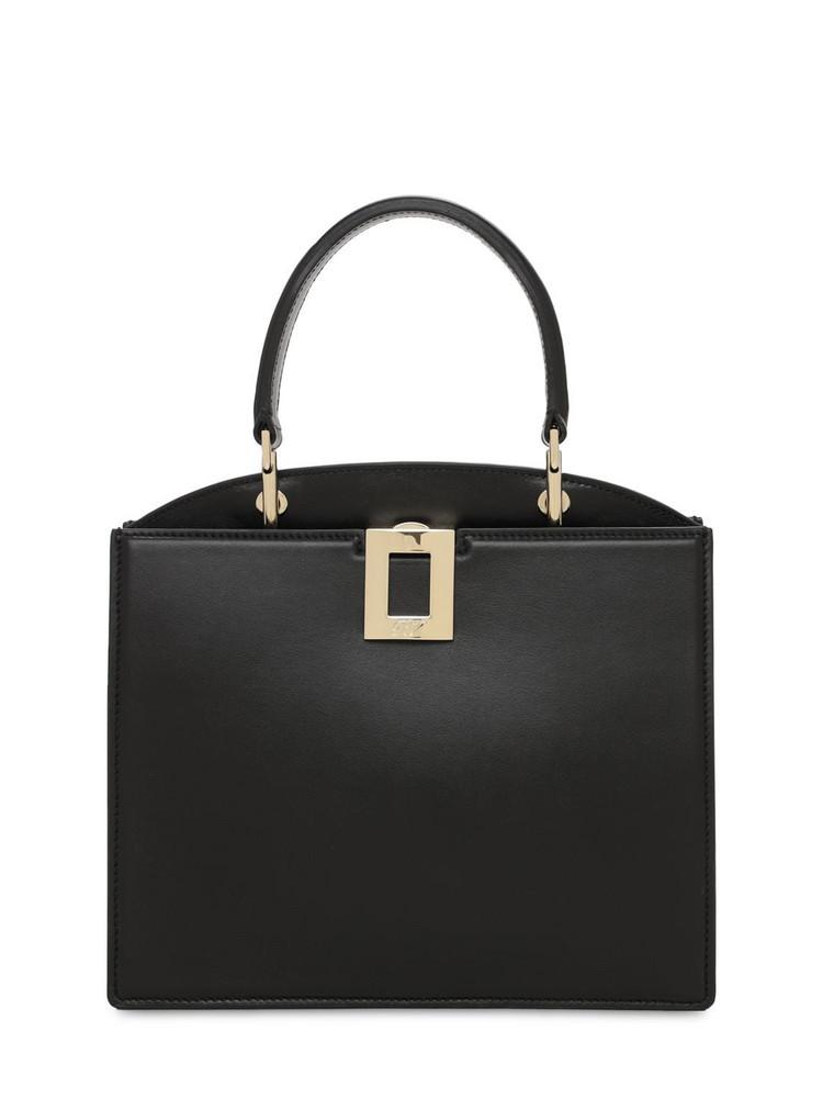 ROGER VIVIER Mini So Vivier Leather Top Handle Bag in black