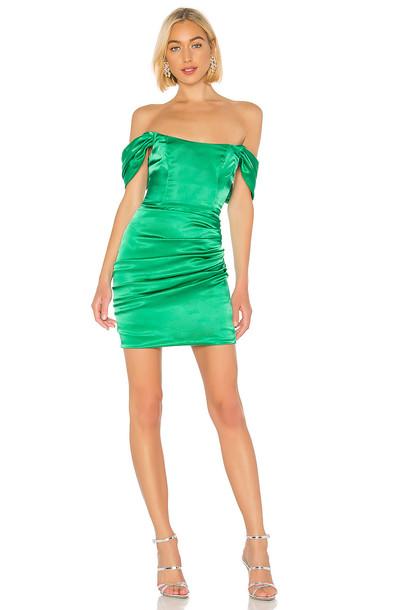 DE LA VALI Guadalupe Dress in green