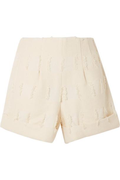 Cult Gaia - Shadi Frayed Shorts - Cream
