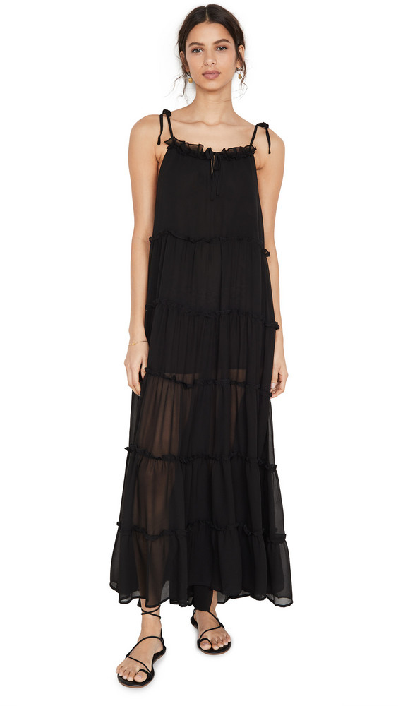 Charlie Holiday Senorita Maxi Dress in black