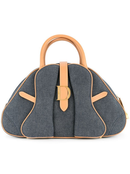 Christian Dior pre-owned Saddle Hand Bag in blue