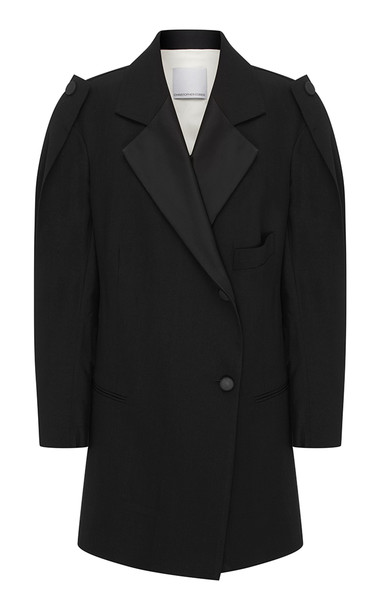 Christopher Esber Double Breasted Caeli Blazer in black