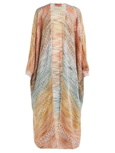 Missoni - Long Zigzag Knitted Cardigan - Womens - Gold Multi