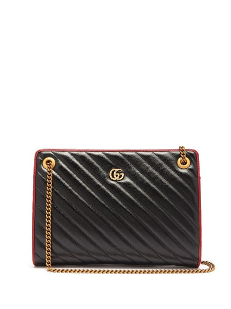 Gucci - Gg Marmont Leather Shoulder Bag - Womens - Black Multi