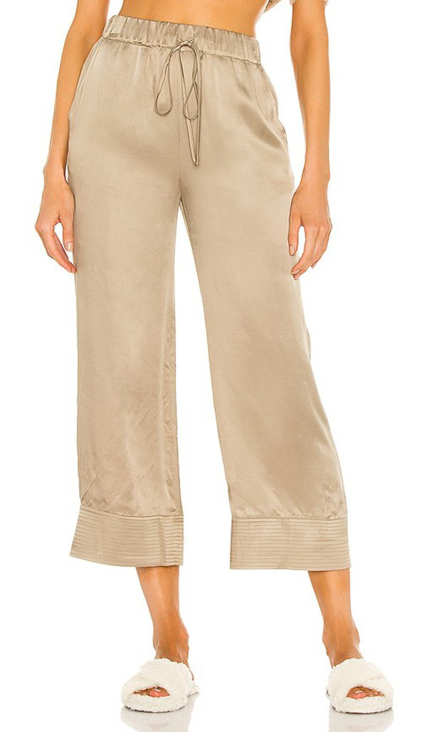Weekend Stories Lilith Cropped Pant in Army,Taupe in khaki