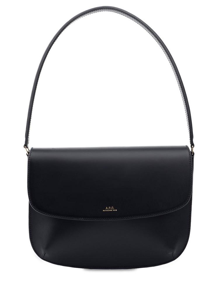 A.P.C. Sarah  Leather Shoulder Bag in black