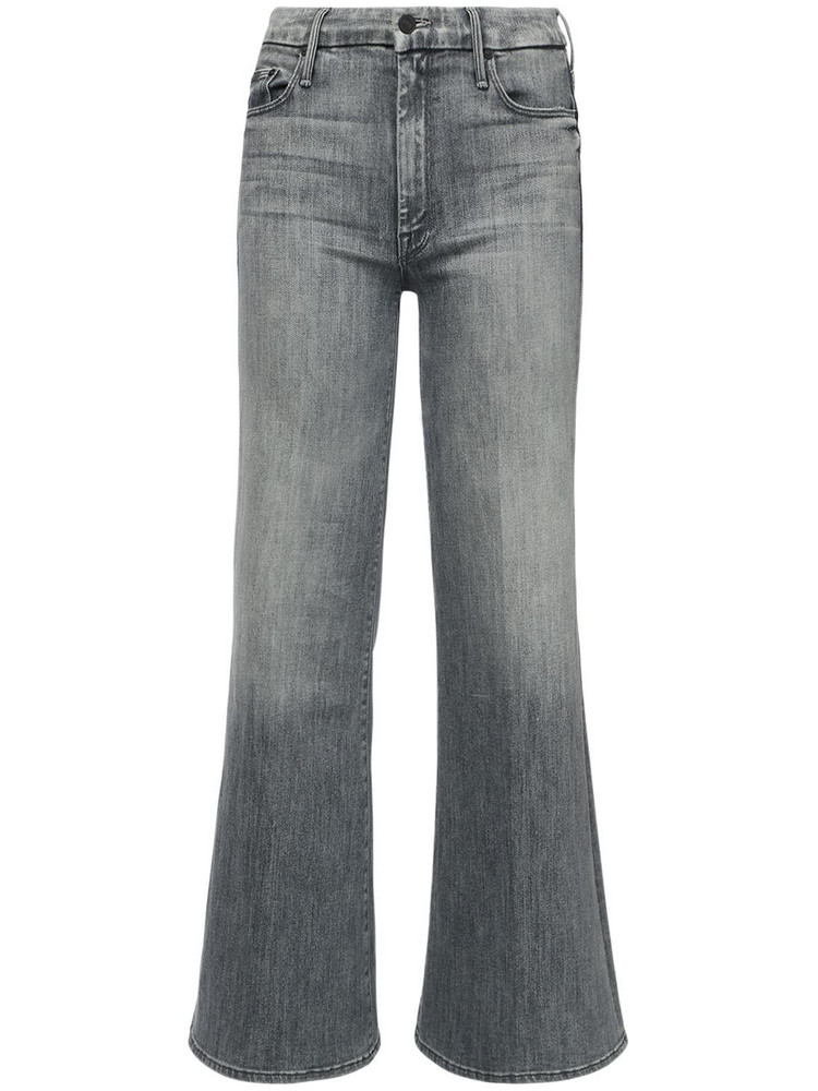 MOTHER The Roller Flared Cotton Jeans in grey