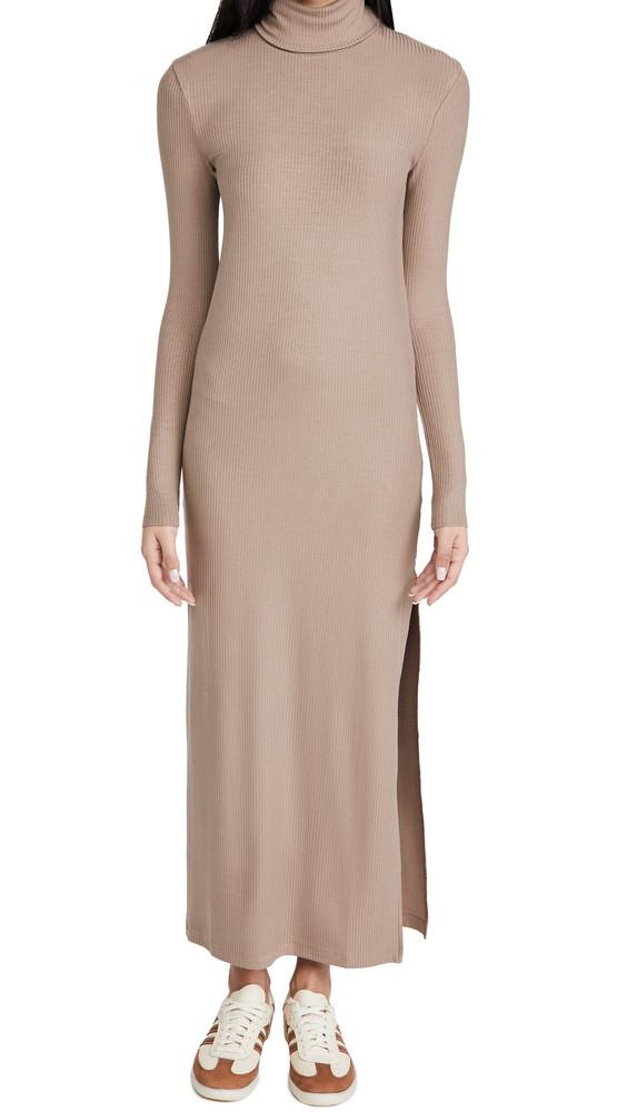 Ninety Percent Rib Maxi Dress in taupe