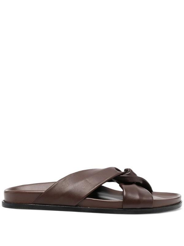 Elleme Tresse leather sandals in brown
