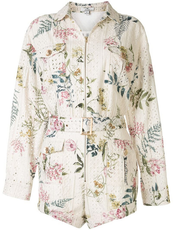 We Are Kindred Hazel floral print playsuit in white