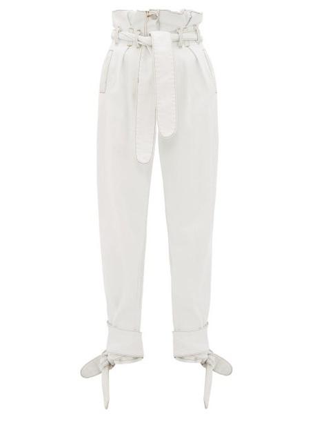 Re/done Originals - X The Attico Paperbag Waist Denim Trousers - Womens - Light Denim
