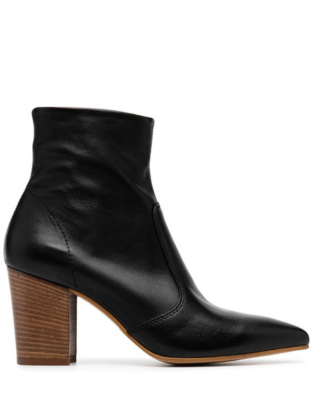 Carvela Sculpture pointed heeled boots in black