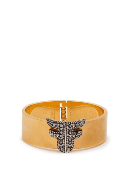 Fendi - Ffreedom Crystal Embellished Cuff - Womens - Gold