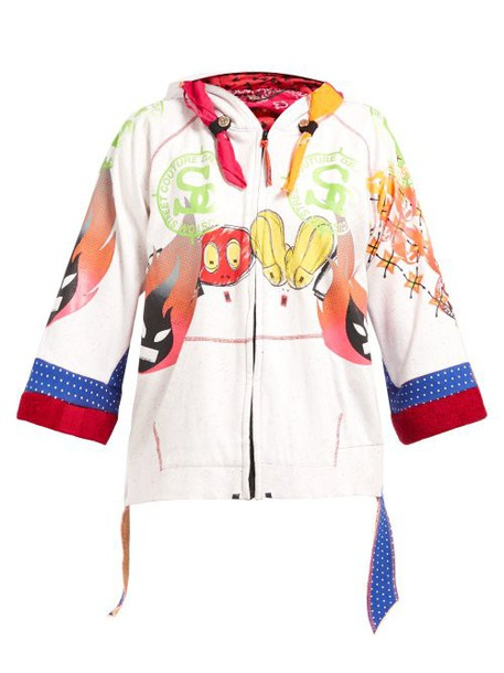 Noki - Customised Street Couture Hooded Sweatshirt - Womens - Multi