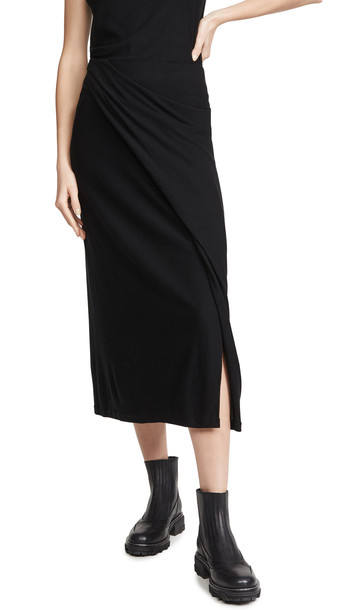 Vince Draped Skirt in black