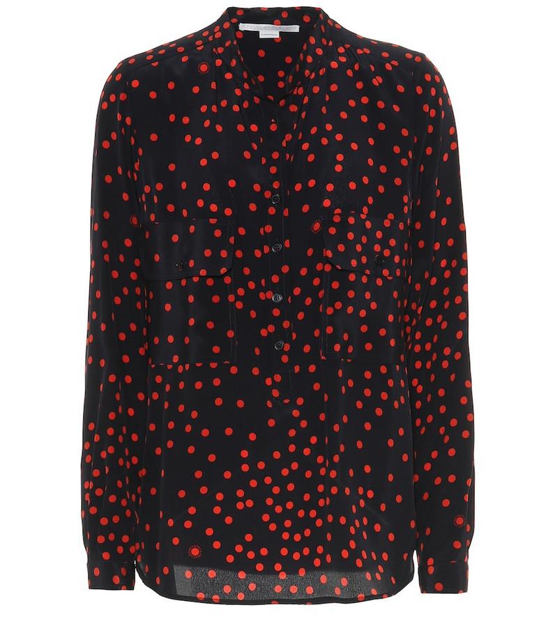 Stella McCartney Polka-dot silk shirt in red