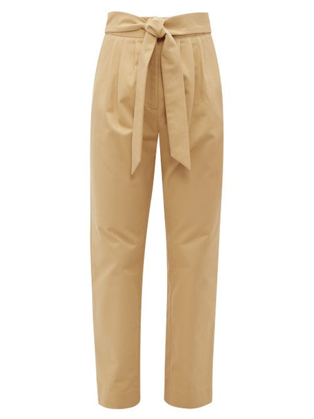 Merlette - Kinabalu Cotton Twill Trousers - Womens - Brown