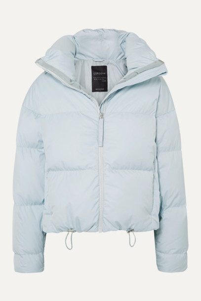 Cordova - The Mont Blanc Cropped Quilted Down Ski Jacket - Light blue