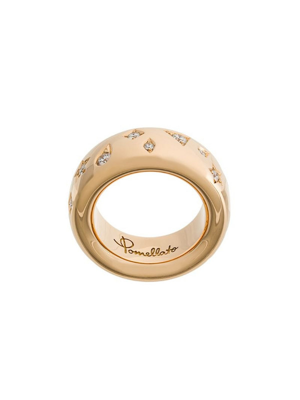 Pomellato 18kt rose gold Iconica diamond ring in metallic