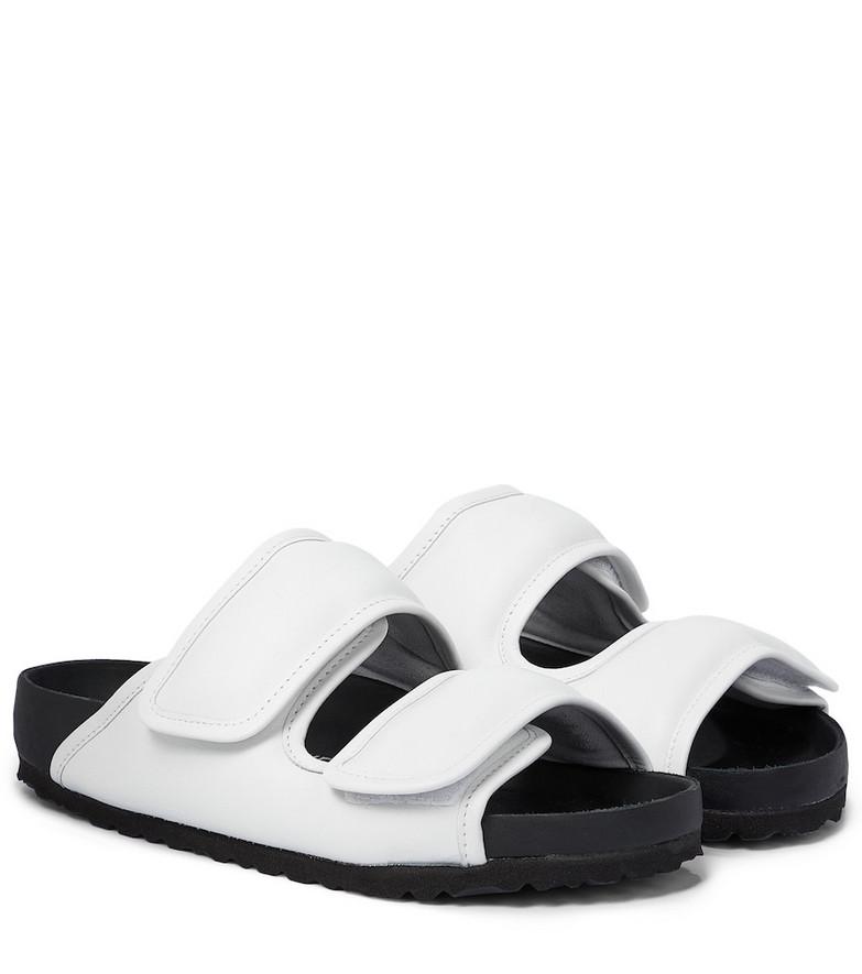 Birkenstock x CSM Cosy leather sandals in white