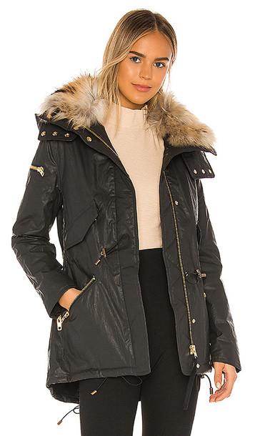 SAM. SAM. Devon Removable Fur Collar Parka in Black