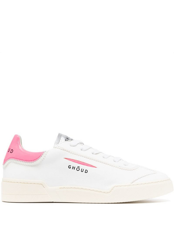 Ghoud low-top lace-up trainers in white