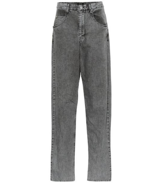 Isabel Marant Lex high-rise boyfriend jeans in grey