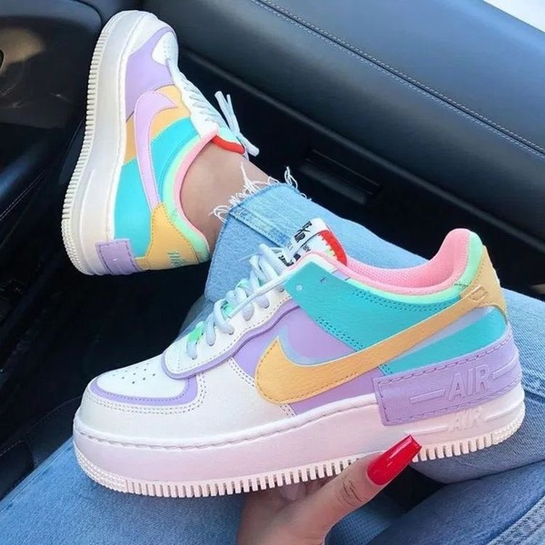 shoes nike nike air force 1 pastel sneakers