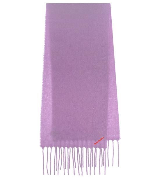 Acne Studios Villy wool-blend scarf in purple