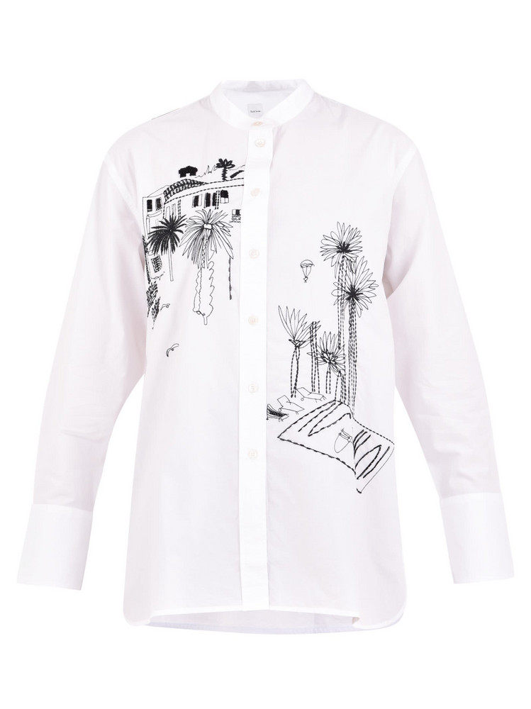 Paul Smith Embroidered Shirt in white