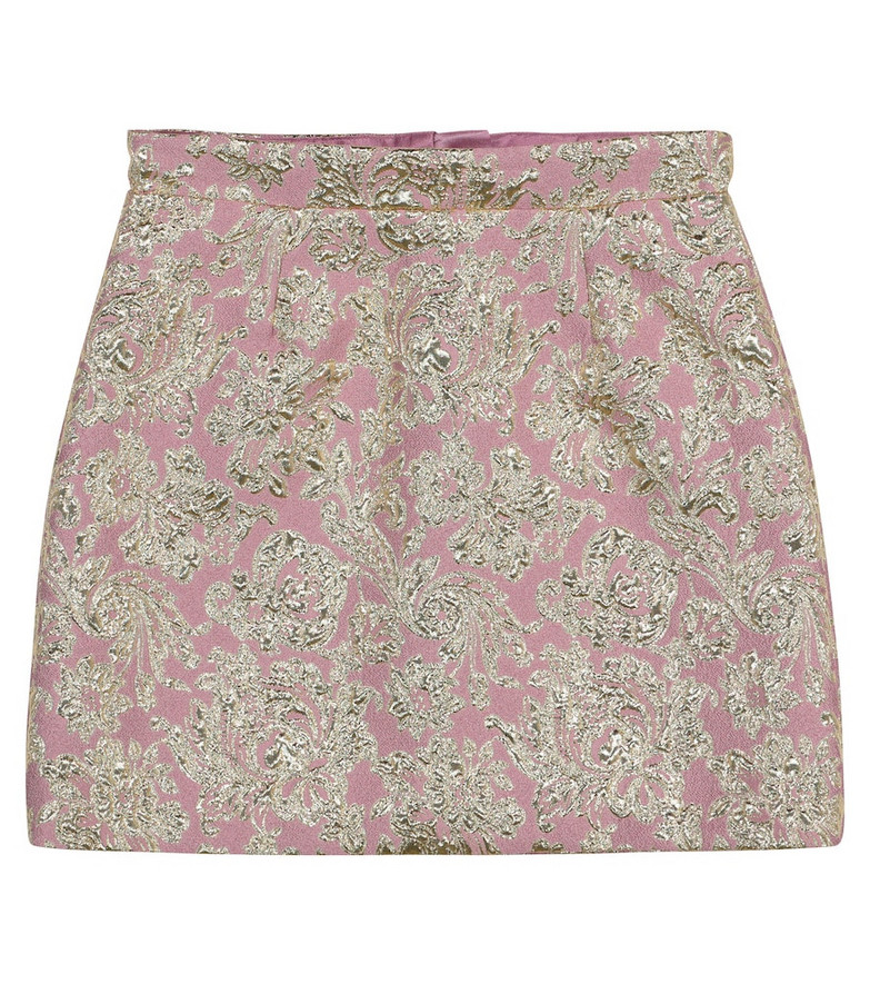 Dolce & Gabbana Kids Jacquard skirt in pink