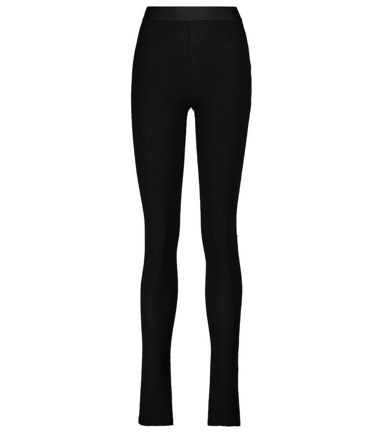Ann Demeulemeester Stretch wool-blend leggings in black