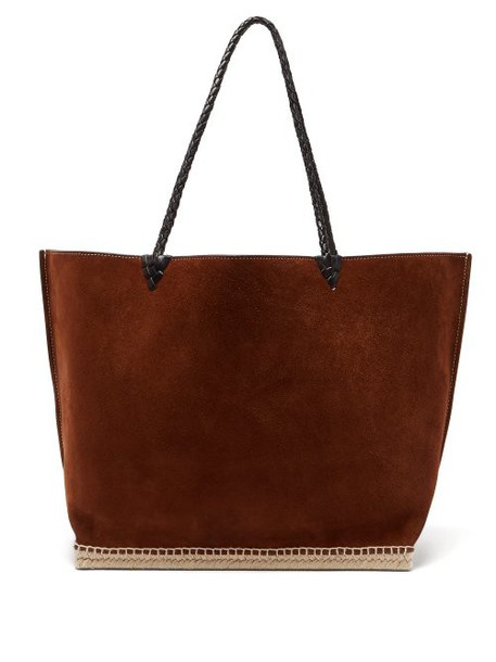 Altuzarra - Espadrille Large Suede Tote Bag - Womens - Dark Brown