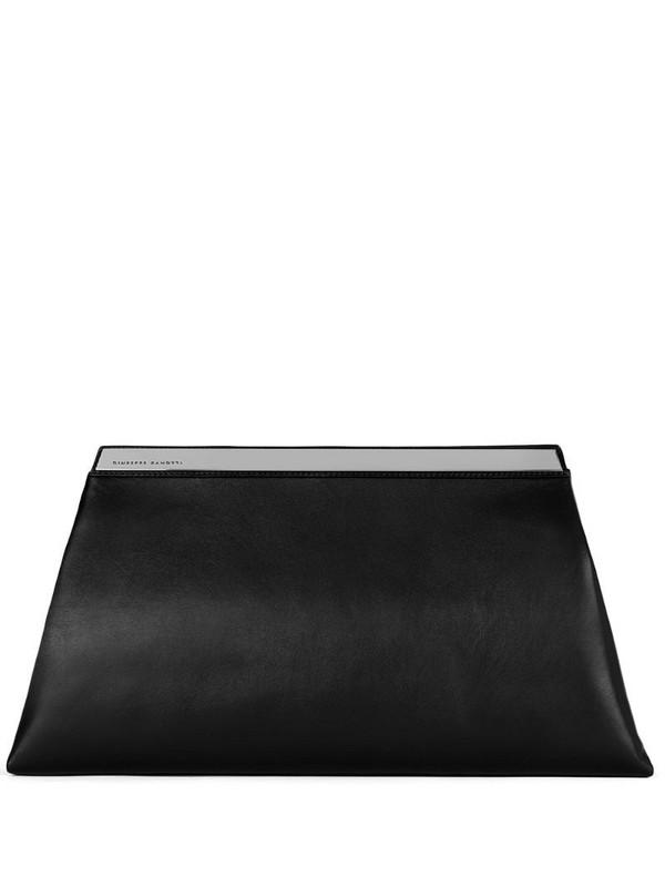 Giuseppe Zanotti Sharyl leather clutch bag in black