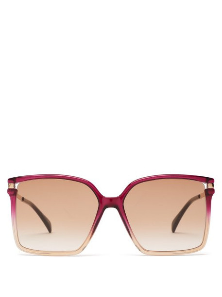 Givenchy - Oversized Square Frame Acetate Sunglasses - Womens - Pink Multi