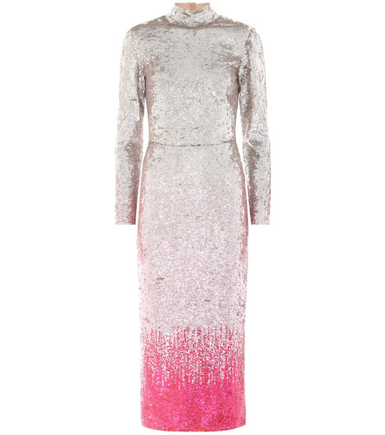 Temperley London Opia sequined dress in pink